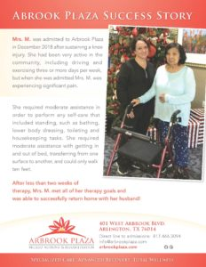 Arbrook Plaza Mrs. M. Success Story
